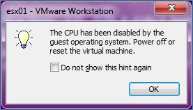 ESXi 5 Purple Screen of Death in VMware Workstation 8 (1/4)