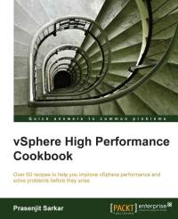 Book Cover: vSphere High Peformance Cookbook